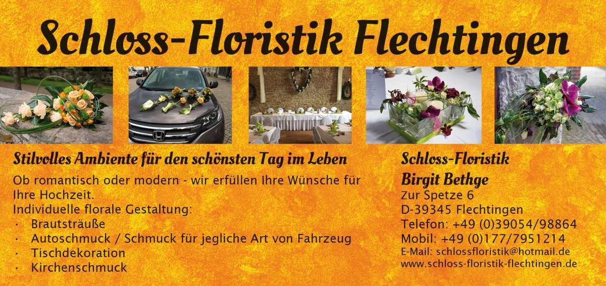 Flyer Schloss-Floristik Flechtingen (Vorderseite)