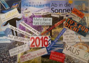Visionboard für Jahresrückblick 2016