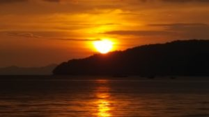 Sonnenuntergang in Krabi